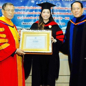 Honorary Degree IUM USA